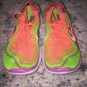 Nike Free Flyknit Women Multi Color Sneaker